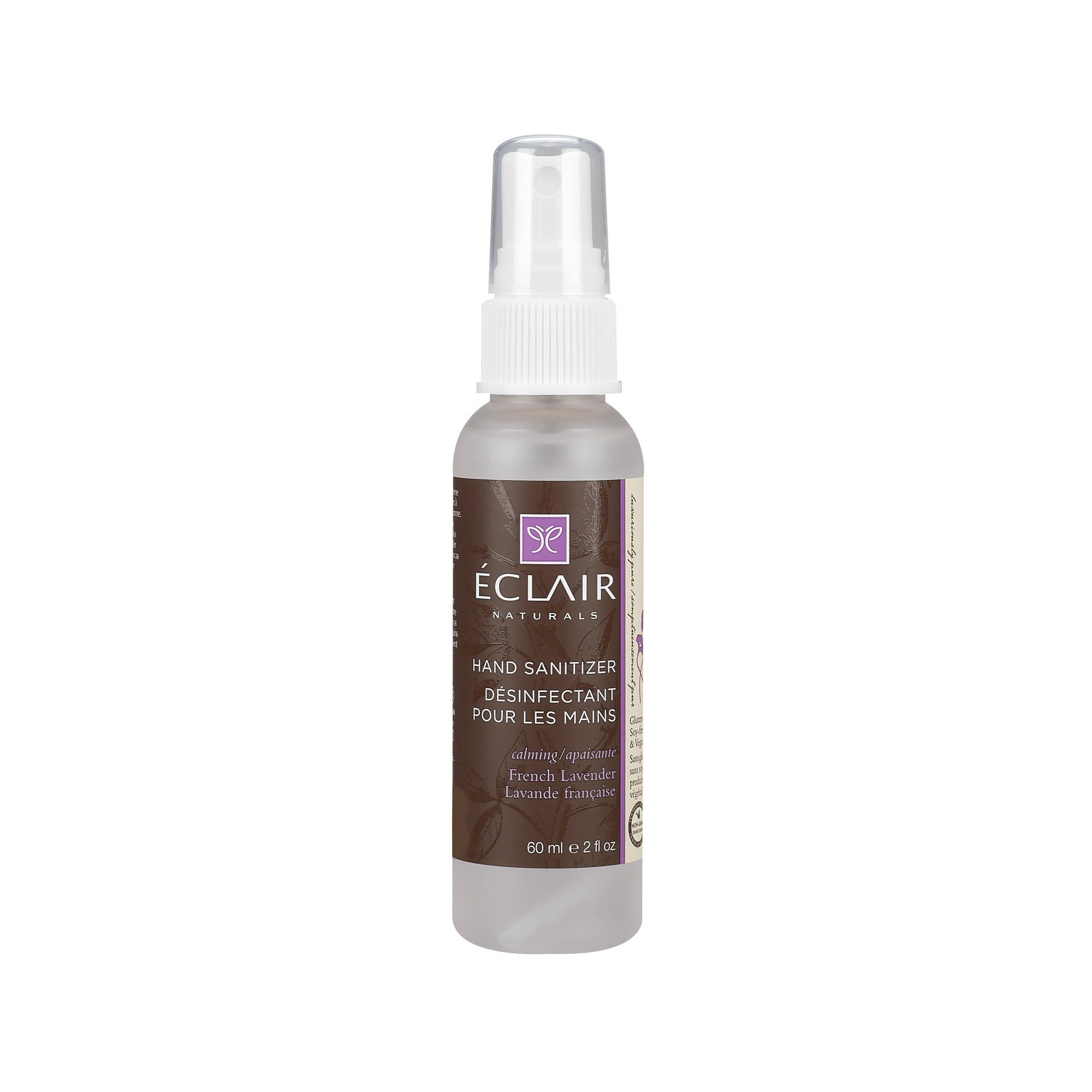 Eclair Naturals French Lavender Hand Sanitizer 2oz Hand