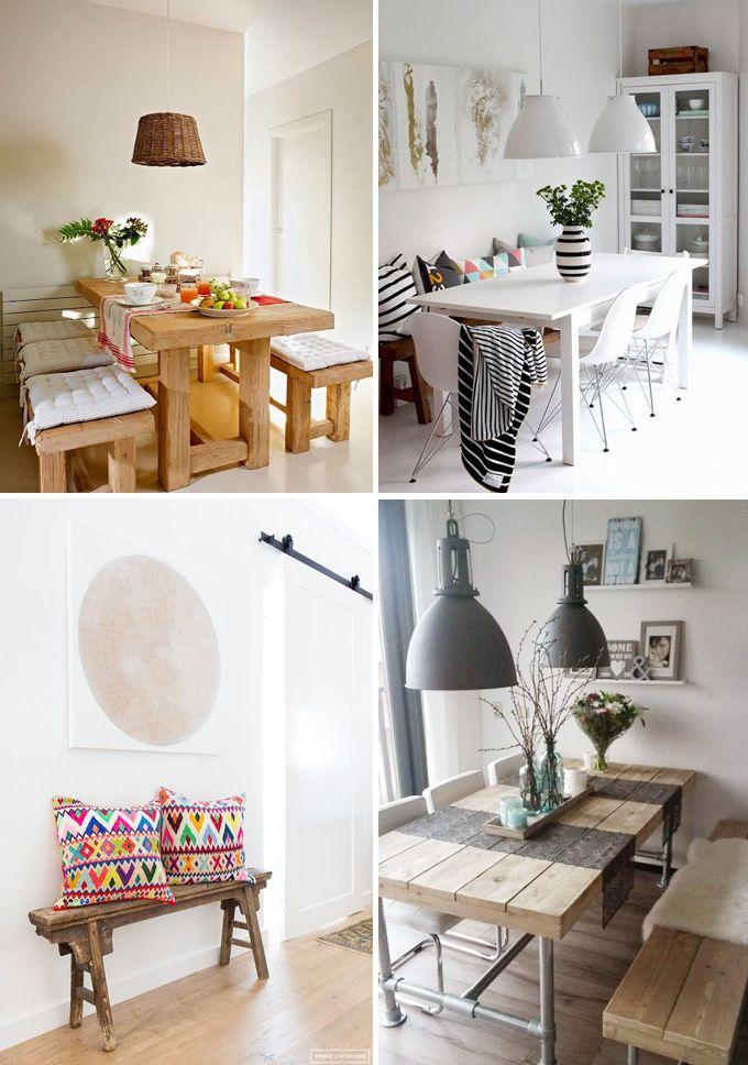Casas acogedoras con bancos de madera decoraci n for Decoracion de casas acogedoras