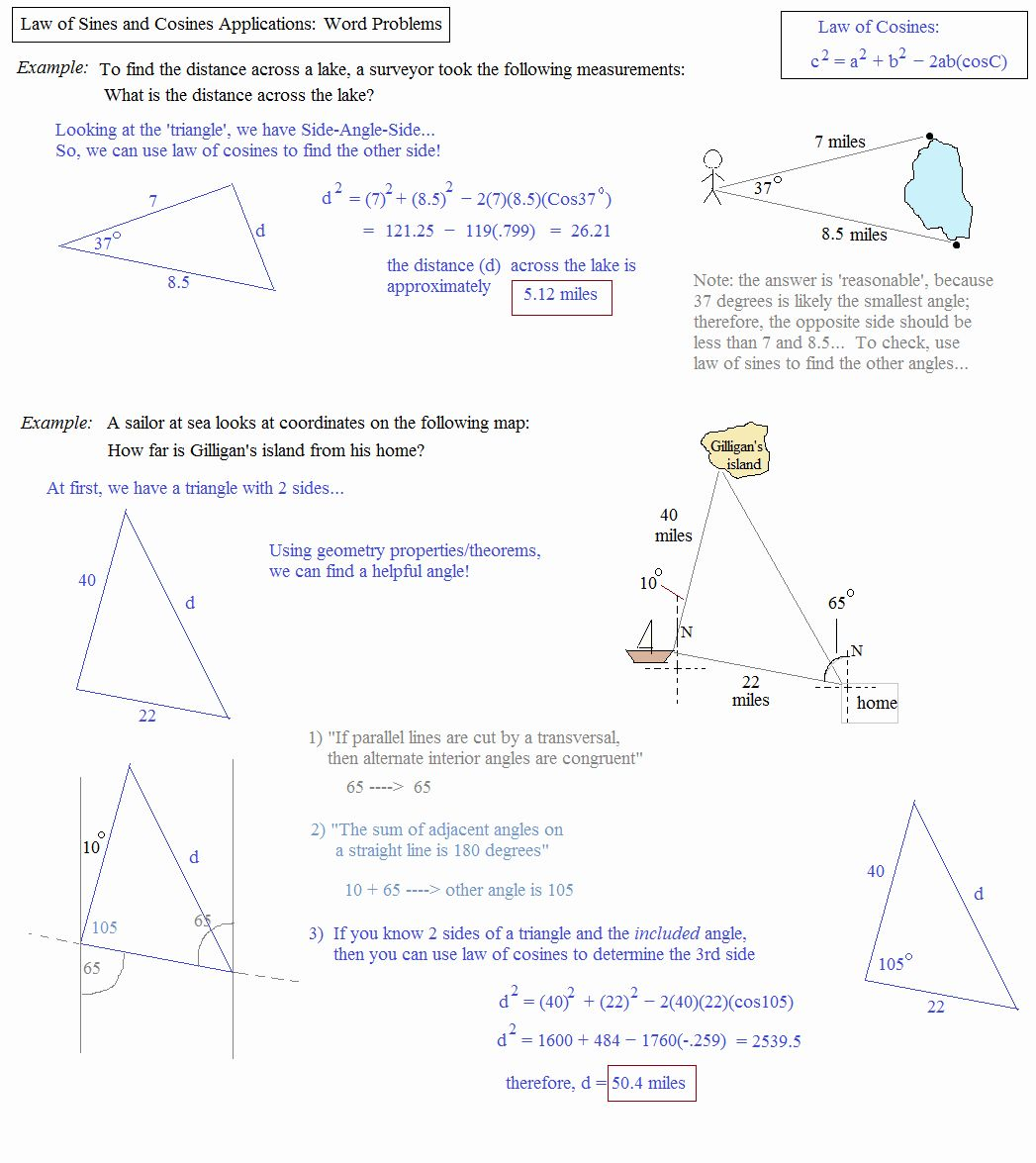 Law Of Sines Worksheet Answers Best Of the Law Of Sines