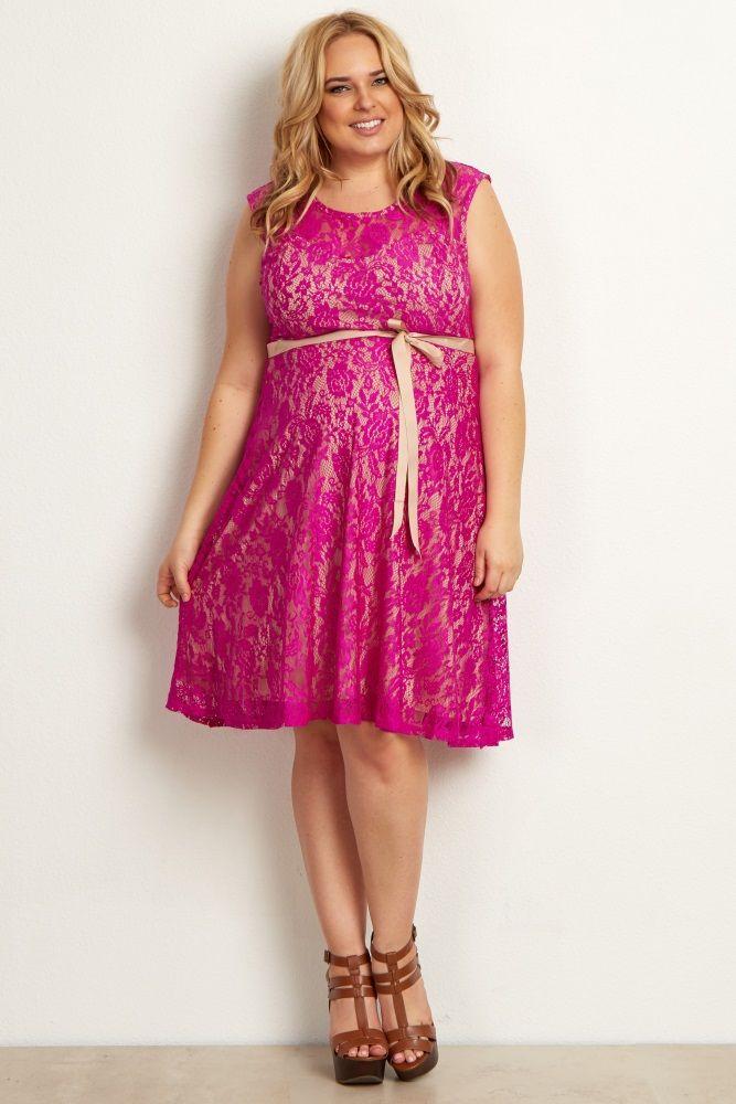 Magenta Green Lace Plus Size Maternity Dress Maternity Dresses Plus Size Maternity Dresses Lace Maternity Dress