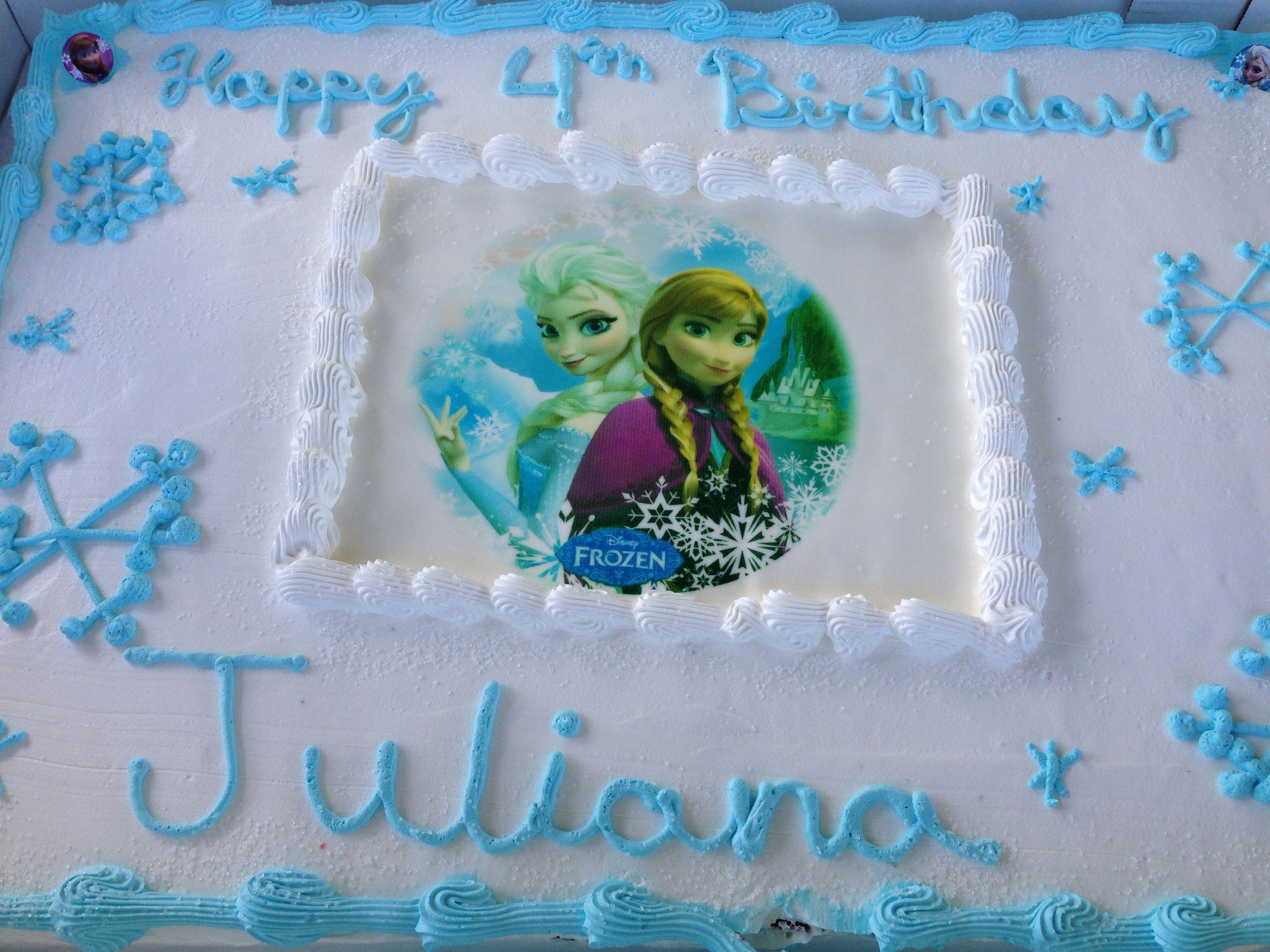 Brilliant Frozen Cake By Hannaford Cake Decorating Easy Cake Decorating Funny Birthday Cards Online Alyptdamsfinfo