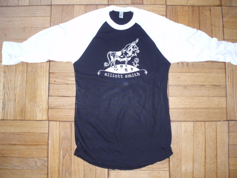 Black keys t shirt etsy - Elliott Smith T Shirt New Vintage Style Concert Tour Jersey Ferdinand The Bull Choose Size