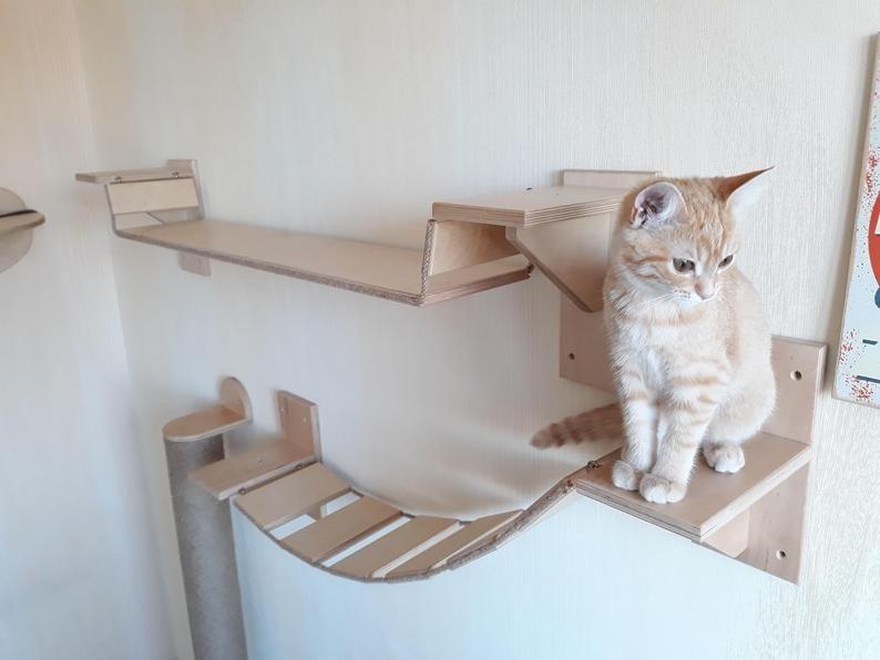 Cat Shelves Bridge Cat Bridge Cat Wall Furniture Cat Shelves