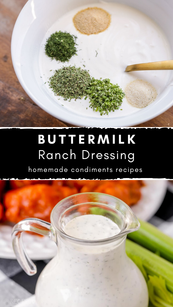 Buttermilk Ranch Dressing Ranch Dressing Recipe Homemade Ranch Dressing Recipe Buttermilk Ranch Dressing Recipe