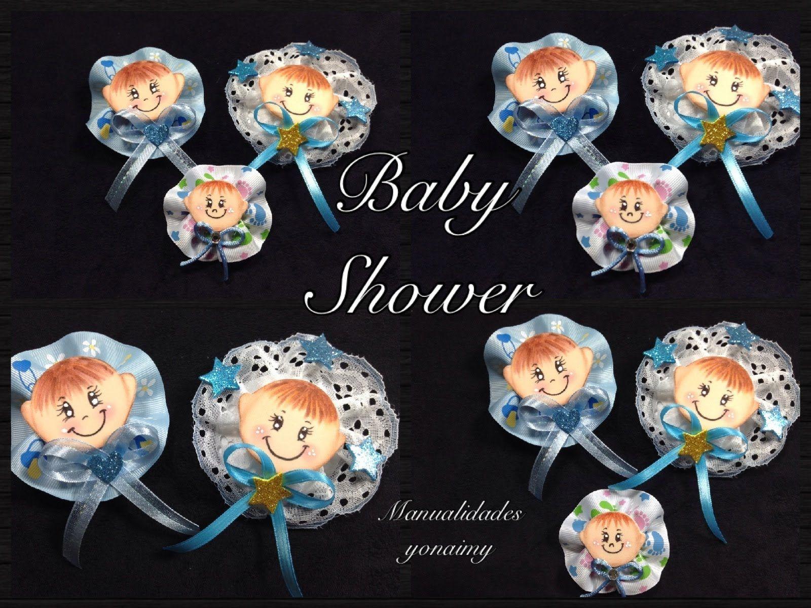 Broche de bebe hecho con foamy o goma eva para baby shower - Broches para manualidades ...