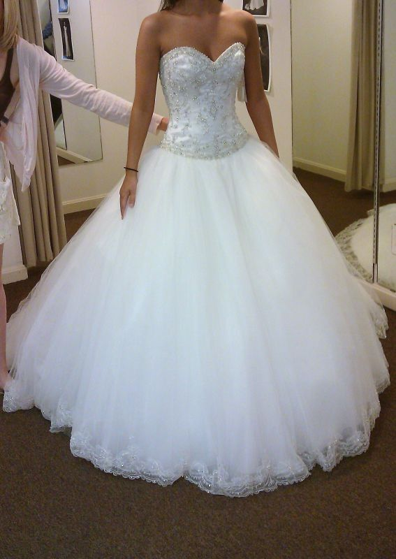 White and Gold Wedding. Sweetheart Corset Ballgown Dress. ❤ | one ...