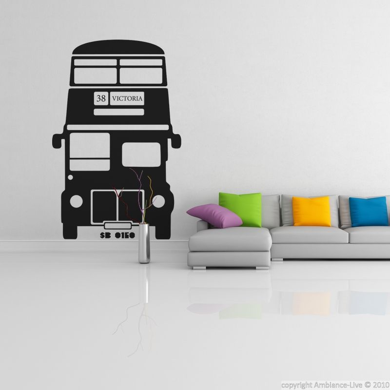stickers muraux londres sticker bus anglais ambiance. Black Bedroom Furniture Sets. Home Design Ideas