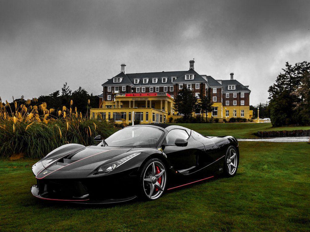 Black Car Ferrari Laferrari Aperta Supercar Wallpaper Black