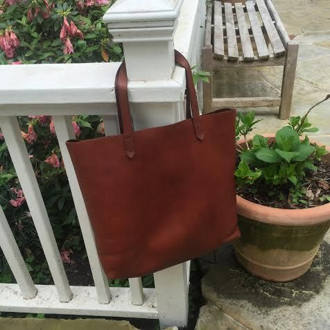 water stain on leather purse