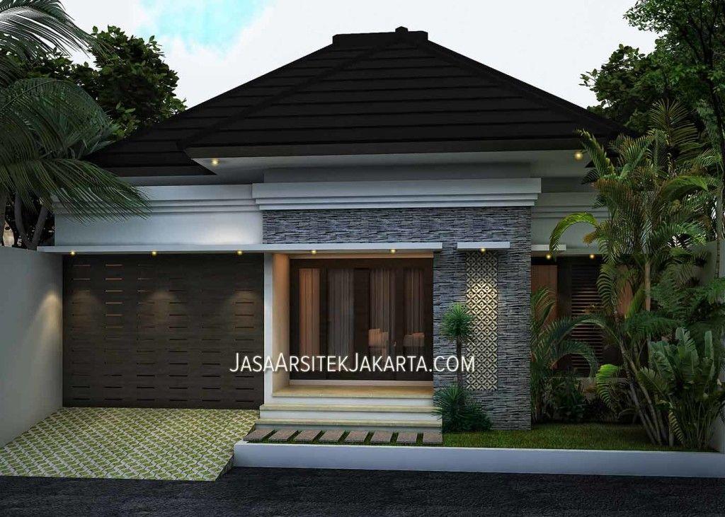 Desain Rumah Minimalis 1 Lantai Dengan Luasan 200m2 Berlokasi Di Jakarta Rumah Batu Desain Eksterior Rumah