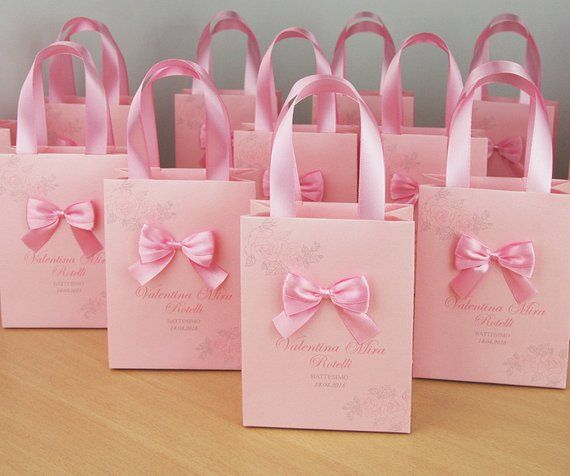 Personalized Baptism Or Birthday Gift Bags For Party Favors For