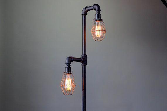 Pijp vloerlamp industriële vloerlamp edison lamp staande