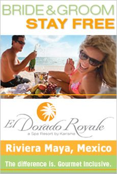 The El Dorado Royale specializes in destination weddings and offers gourment inclusive dining. DestinationWeddings.com has special offers for weddings at this resort in the Riviera Maya.