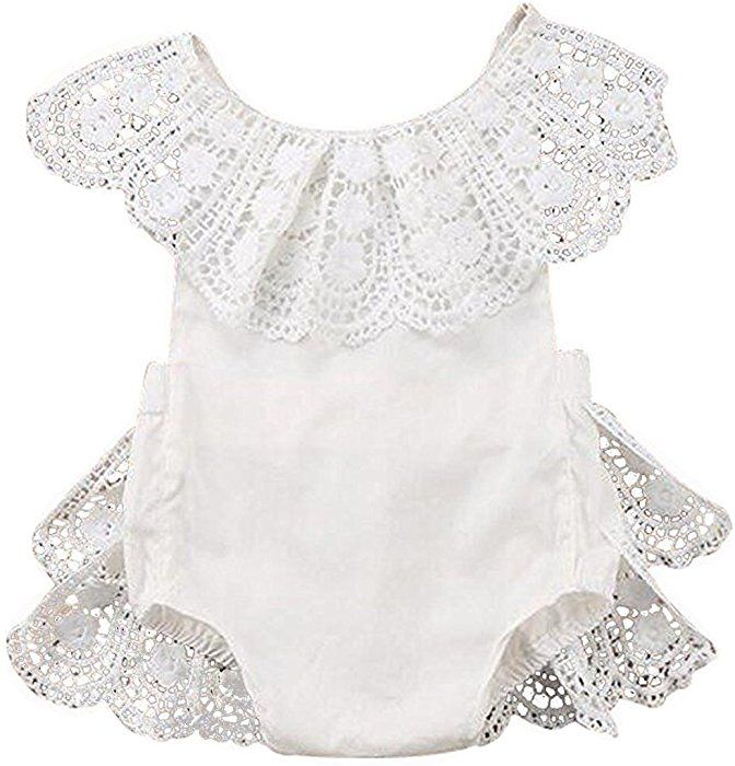 Amazon.com: EGELEXY Infant Baby Girl Lace Floral Ruffles ...