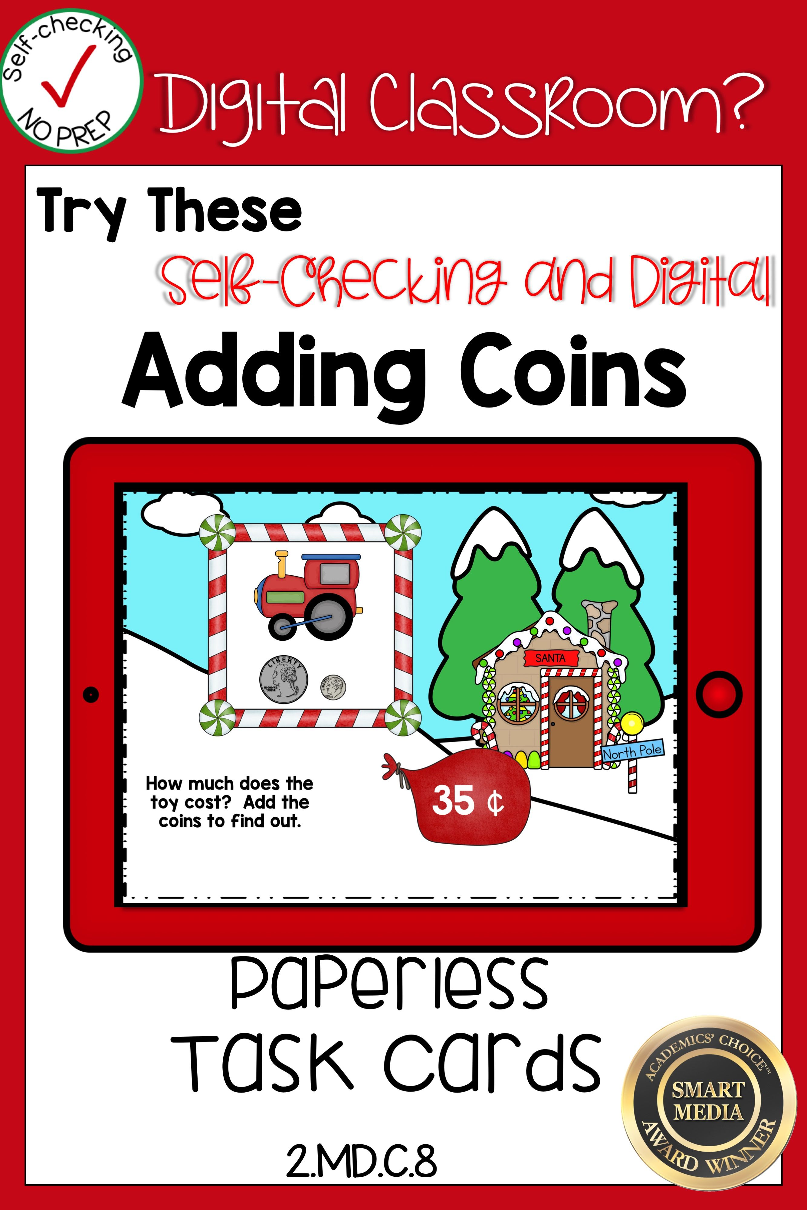 Counting Money Coins Christmas Boom Cards