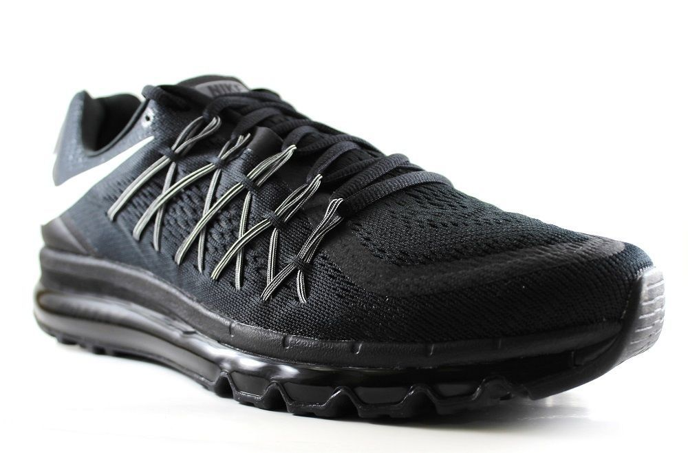 Nike Men's Air Max 2015 Running Shoes 698902 001 BlackWhite