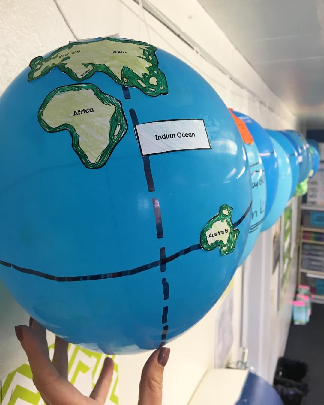 Loving The Way Our Balloon Globes Turned Out I Had My