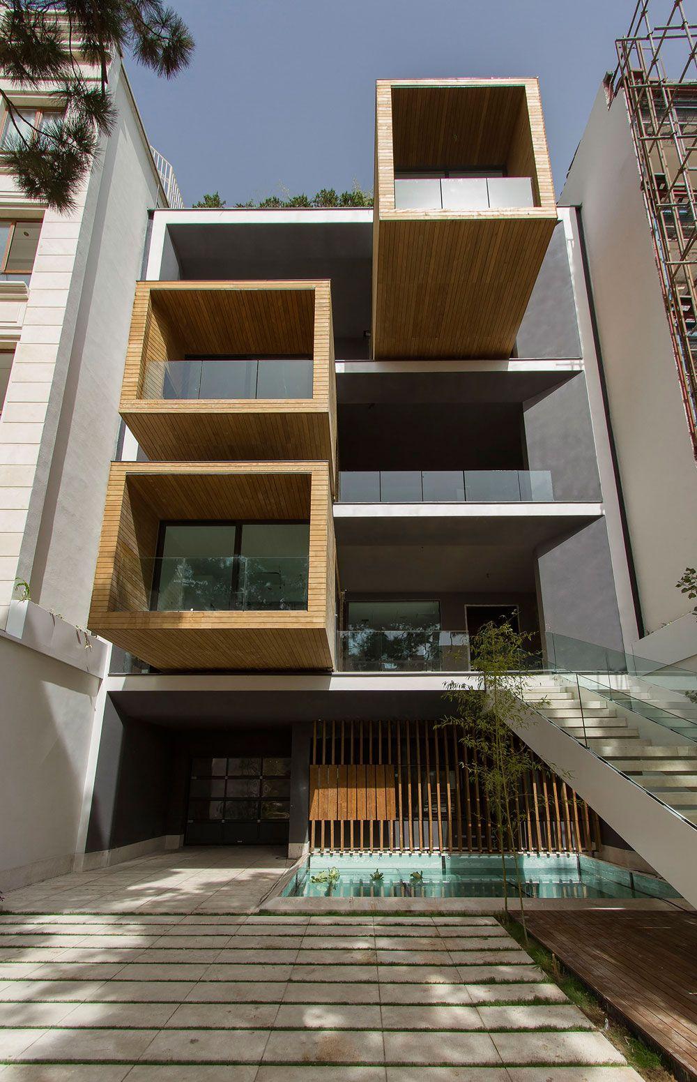 nextoffice, Einfamilienhaus, Iran, Teheran, verdrehbare Räume, Kuben, Flexibilität, Ansicht