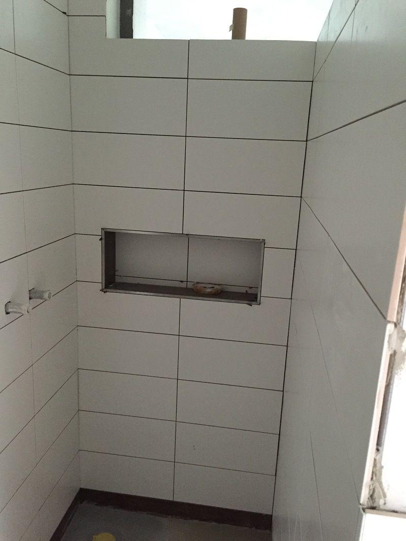 duschablage - unser ablagefach in der gemauerten dusche | badezimmer