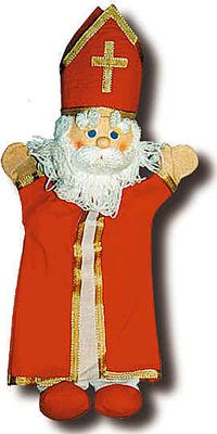 "St Nicholas Hand Puppet, 15-3/4"" tall....available from the St. Nicholas Center in Holland, MI"