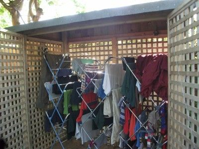 Outdoor Clothes Drying Shed For Rainy Climates Home Designs In