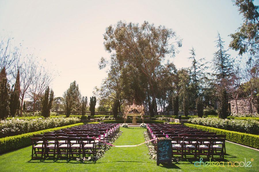 Greystone Mansion Garden Wedding Ceremony In Beverly Hills California