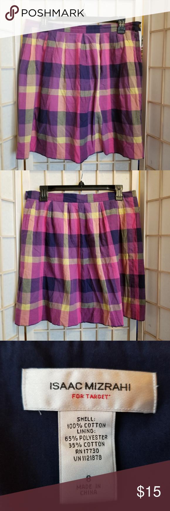 29ba2e6079 Isaac Mizrahi Target Plaid Skirt Size: 8 Waist (flat): 15.5