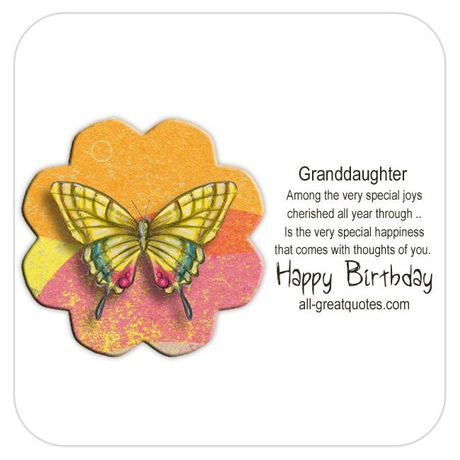 Free Birthday Cards For Granddaughter