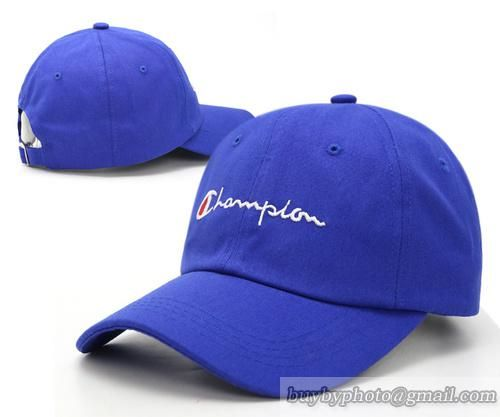 8112103073f Champion Baseball Caps Curved Cap Blue