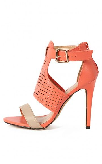 270af9610228 Polo-01 Perforated Ankle Strap Heels SALMON