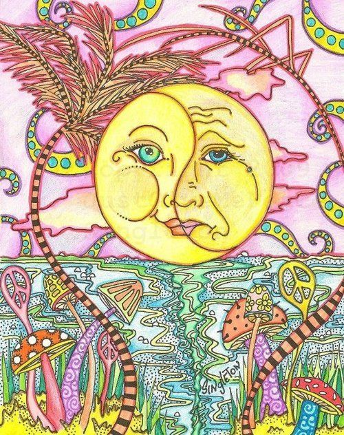 fd21370eb8fd drawing art trippy face painting sky space sun peace colorful ocean sea  psychadelic mushrooms
