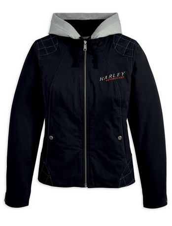 72c245e2927 Harley-Davidson Womens Phoenix 3-in-1 Hoodie Black Casual Jacket ...
