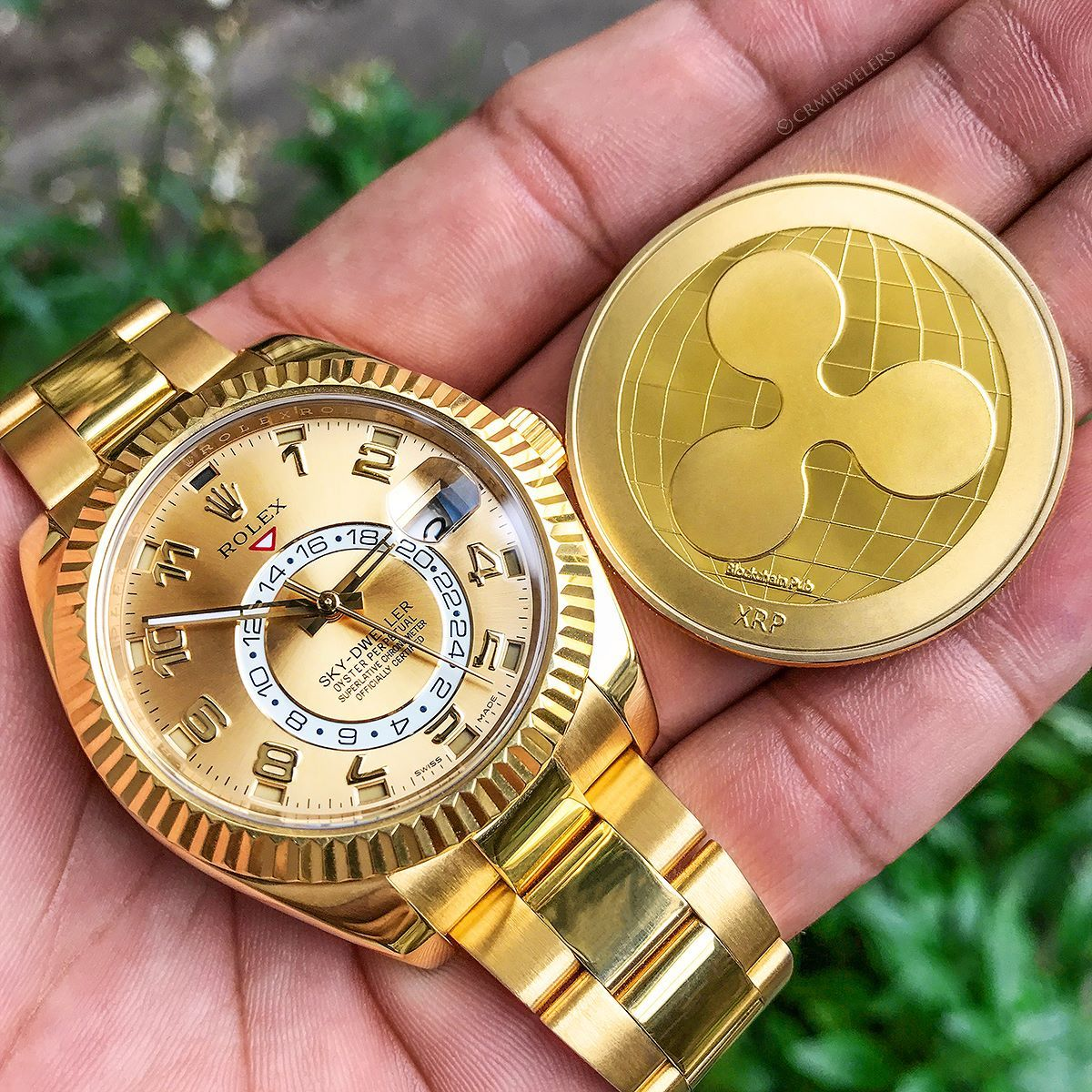 Sky Dweller 33000 Ripple By Cryptoplayhouse Get Your Ripple From Them Bitcoin Blockchain Wallet Bitcoin Wallet
