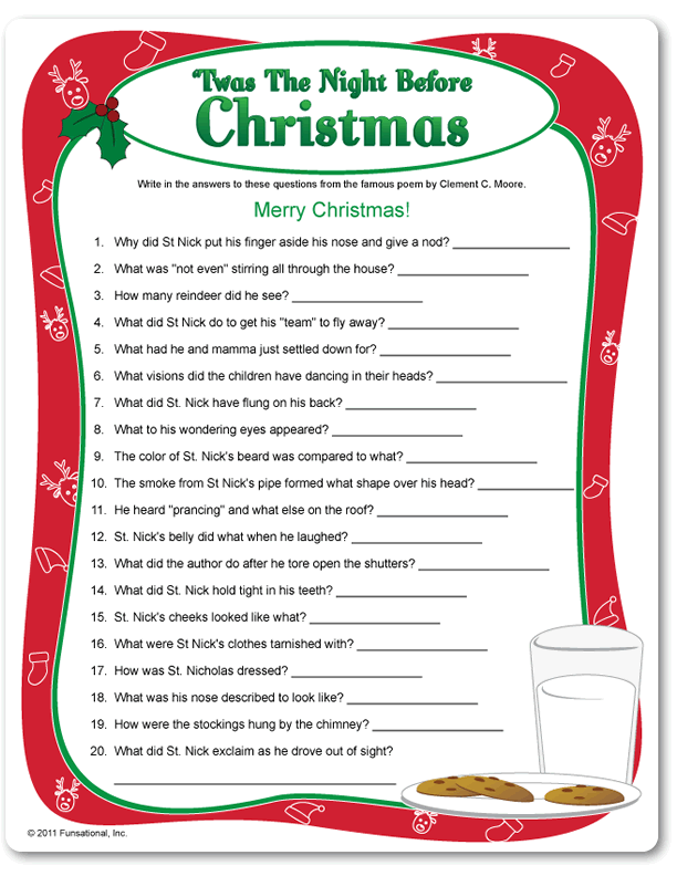 twas the night before thanksgiving activity sheets by - Twas The Night Before Christmas Parody