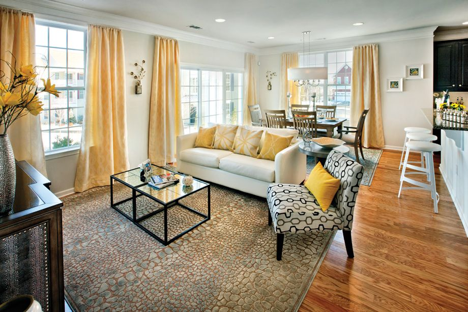 Toll brothers charles decorated model open living and dining rooms available to tour at westborough village daily from also rh pinterest