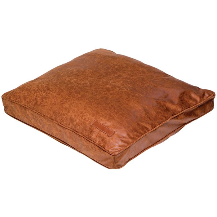 This Material Is Washable Cute Pet Bed That Would Match Your Leather Furniture Leather Dog Bed Faux Leather Dog Bed Dog Bed Mat