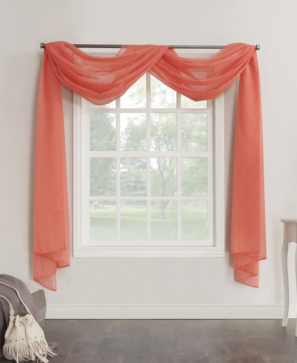 No 918 Sheer Voile 59 X 216 Scarf Valance Reviews Curtains
