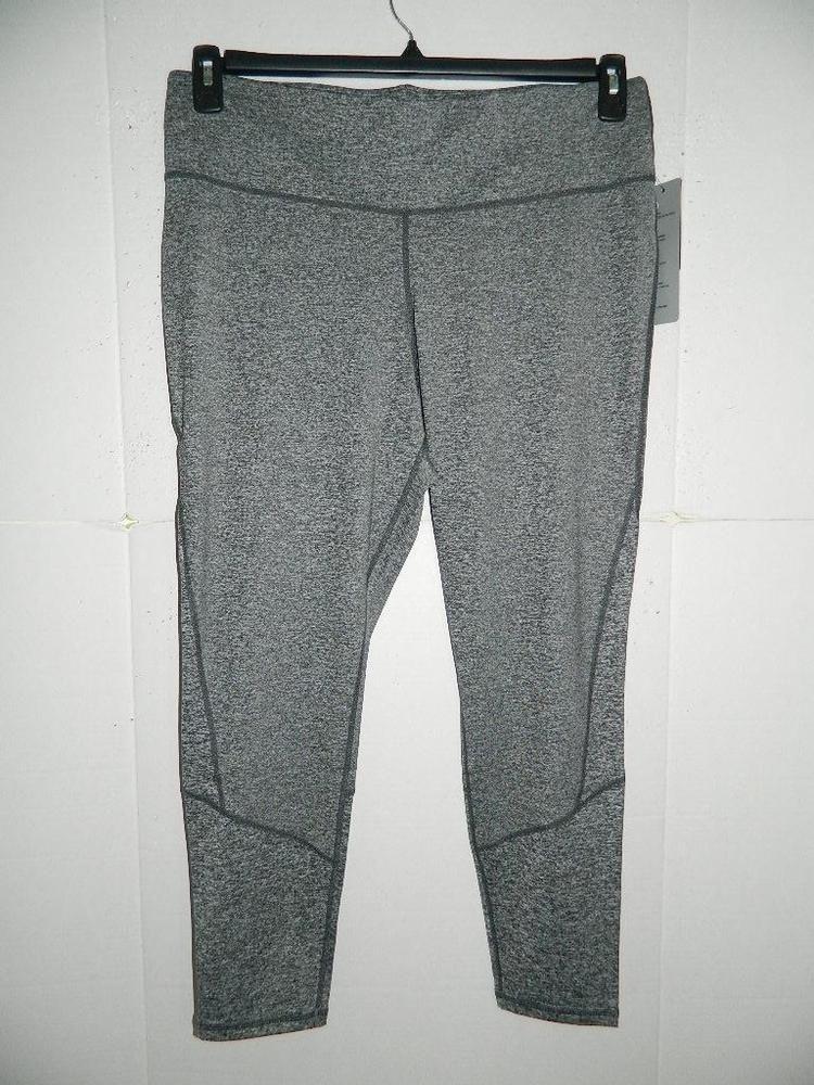 5d4c49daac6b2 WPA1747 Ideology Women Plus Ebony Mesh Inset Leggings Polyester NWT ...