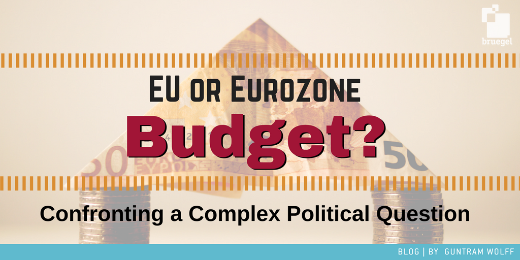 RT @Bruegel_org: Is splitting the #Eurozone or #EUBudget necessary? What would each budget be used for?@GuntramWolff https://t.co/PWGwlc74hf
