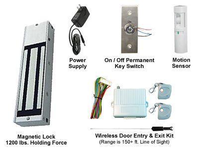 This Retail Store Single Door Electric Magnetic Lock Access Kit Comes With Everything You Need To Create A Wire Battery Backup Wireless