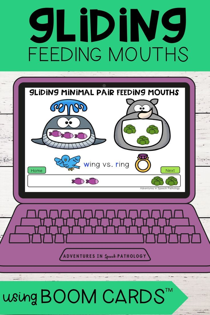 Gliding feeding mouths boom cards minimal pairs