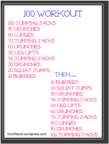 100 Workout From Florida To North Dakota 100 Workout Calorie Workout Ladder Workout
