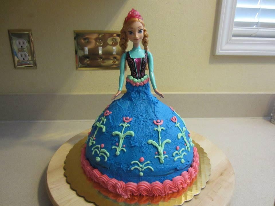 Frozen Anna Cake  Gluten-Free Devils Food Cake with Vanilla Buttercream Frosting