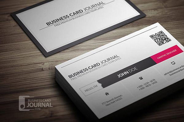 Clean metro style business card template with qr code available for clean metro style business card template with qr code available for free download as psd reheart Images