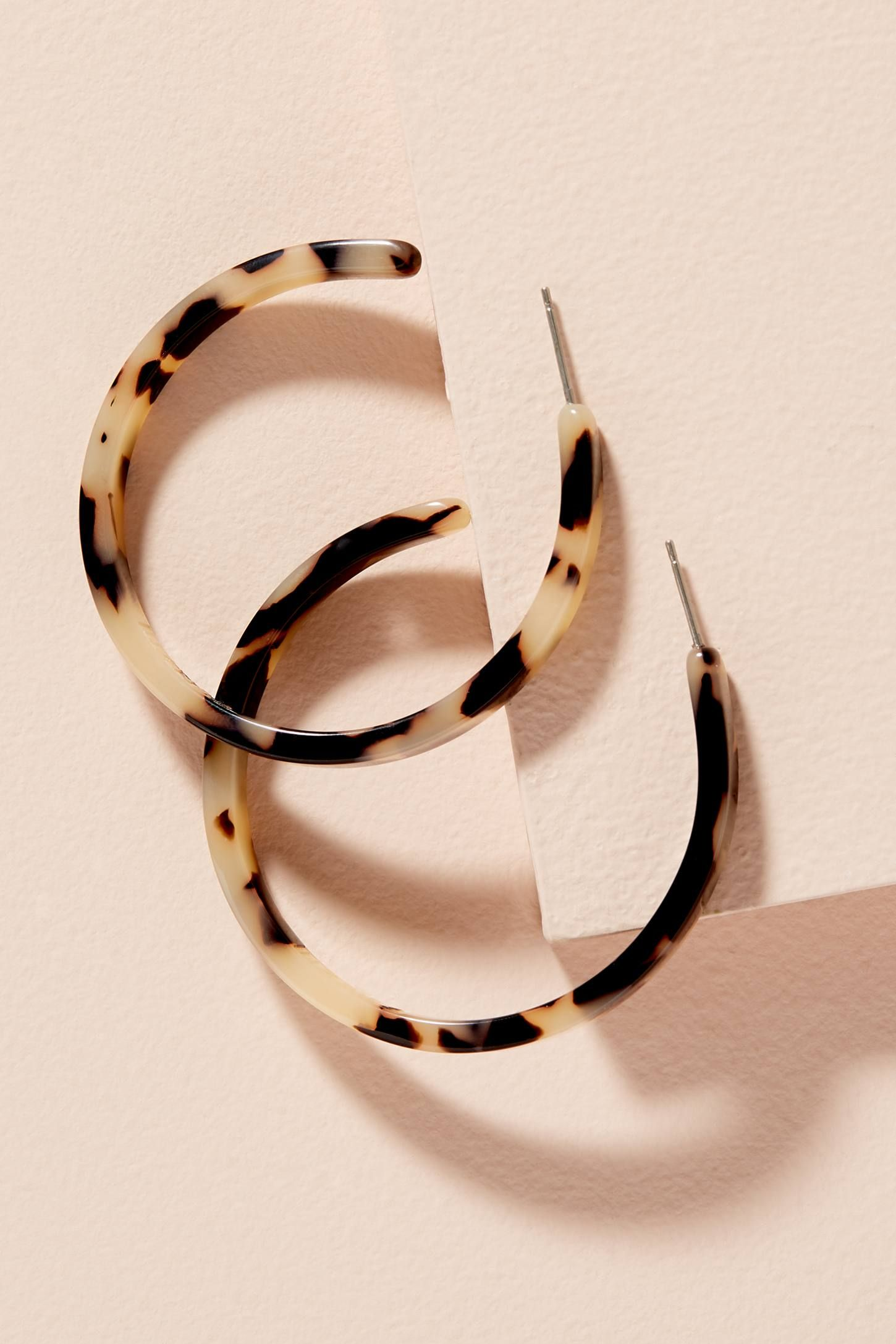 Photo of Novalie Tortoiseshell Hoop Earrings