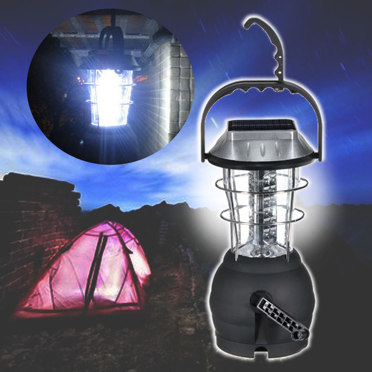 Outdoor 36 leds solar light lantern rechargeable tent lamp hand outdoor 36 leds solar light lantern rechargeable tent lamp hand crank dynamo for camping hiking mozeypictures Image collections