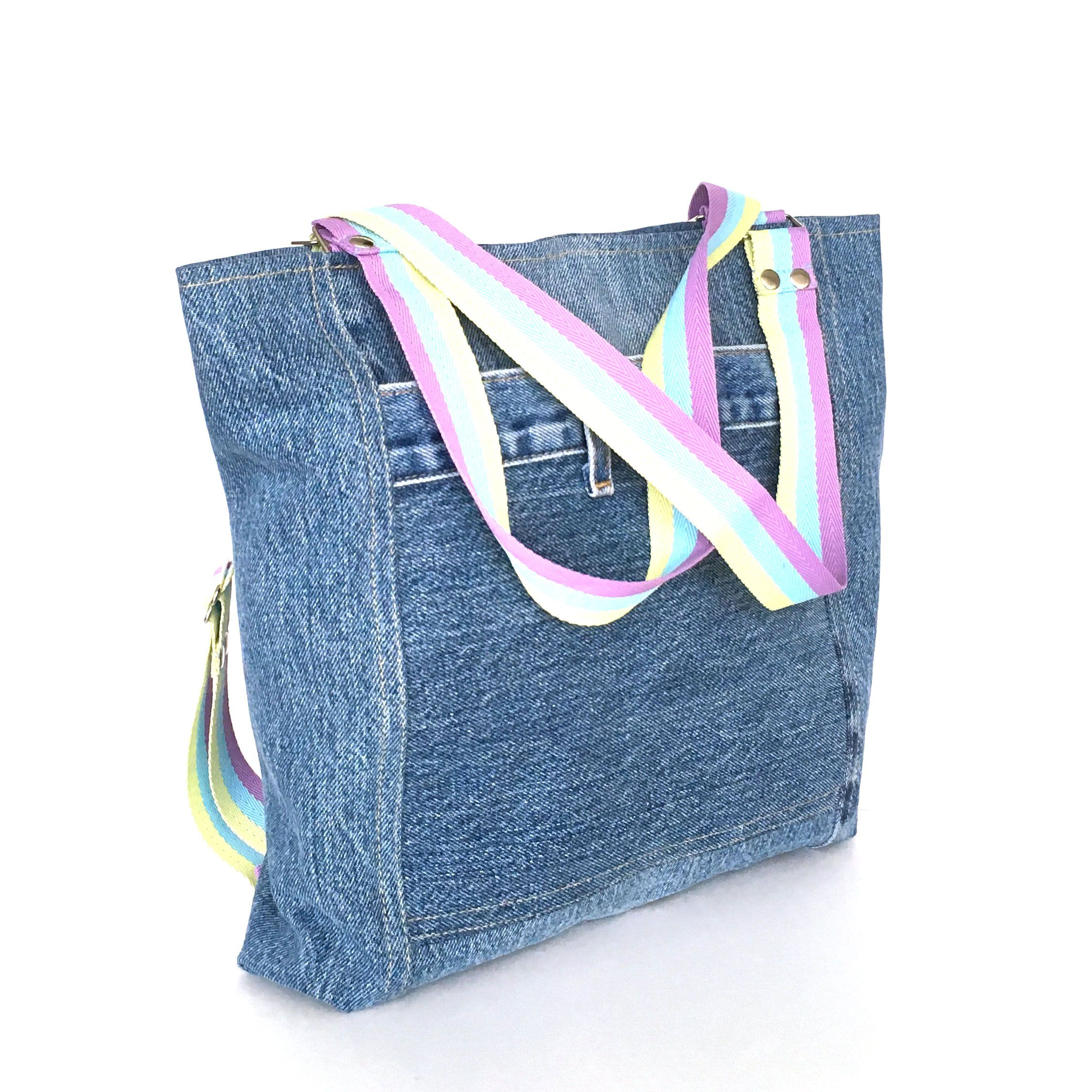 72e18edb79 Recycled denim convertible bag by sisoi