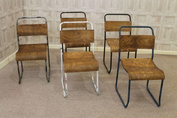 Vintage Metal Rockers | Industrial Vintage Metal Stacking Chairs