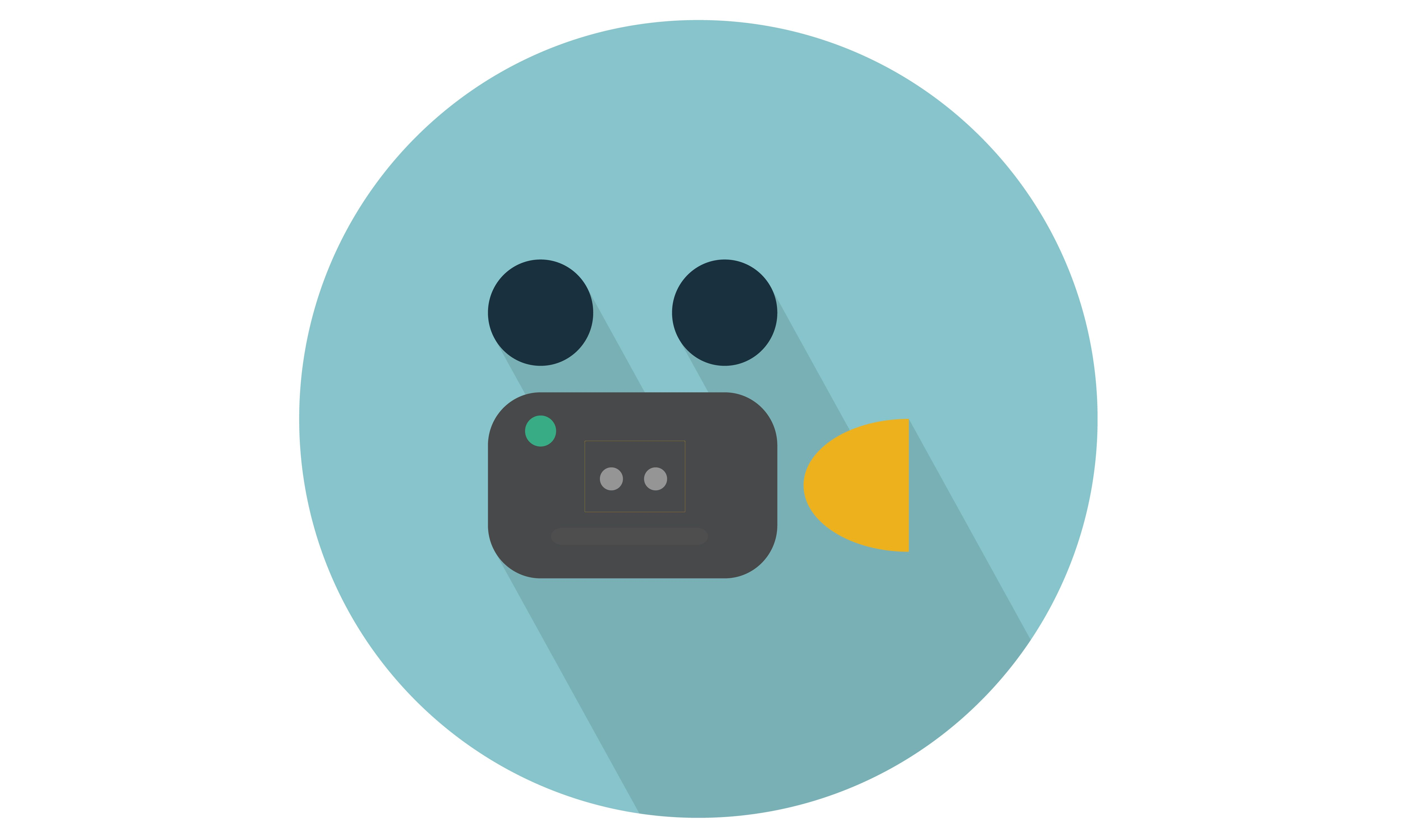 Movie camera vector icon. From Our Range of vector icons