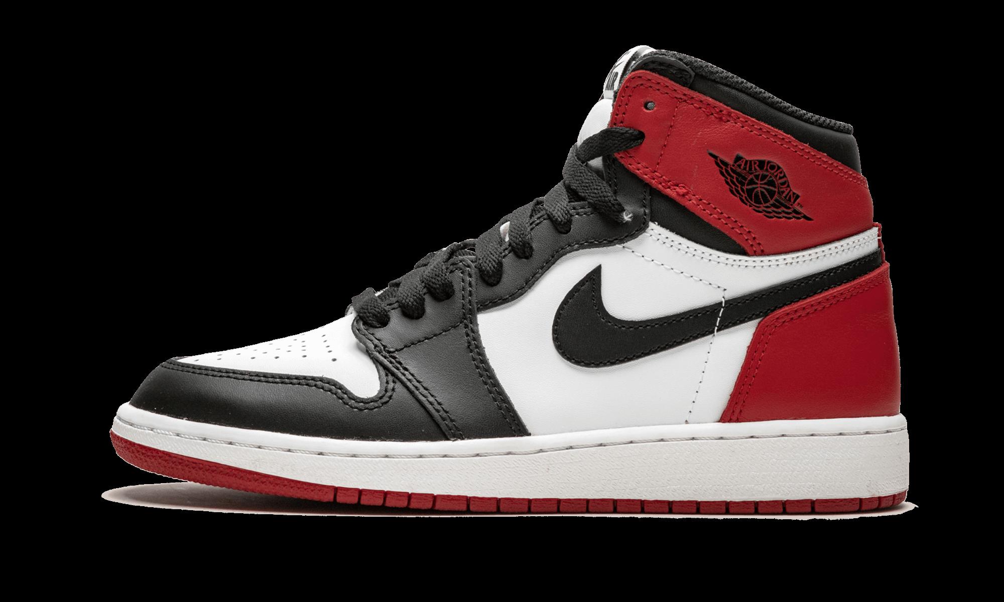 "Air Jordan 1 Retro High OG BG ""Black Toe"" 575441 125"